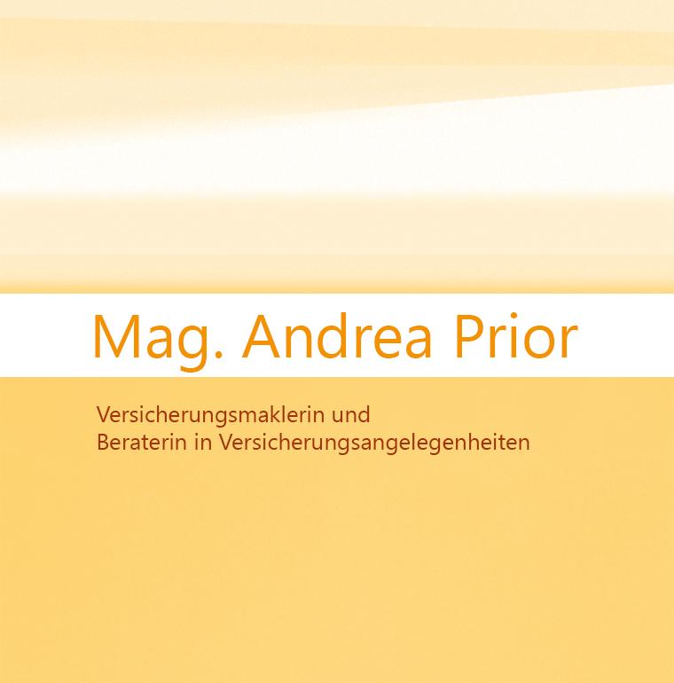 Mag. Andrea Prior Versicherungsmaklerin und Beraterin in Versicherungsangelegenheiten